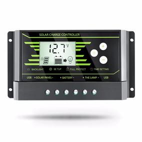 Controlador De Carga Solar Pwm 30a 12/24v Frete Grátis