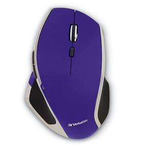Mouse Inalámbrico 8 Botones Morado Led Verbatim 99020