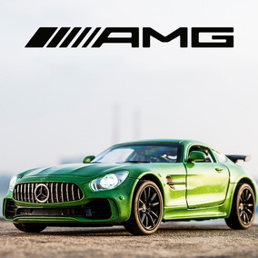 Miniatura Mercedes Benz Amg Gtr Gt Diabo Verde Green 1:32