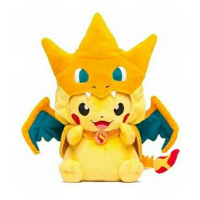 Pikachu Com Charizard Mega Pokémon 23 Cm A Pronta Entrega