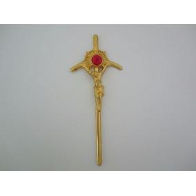 Cruz Papal Accesorio Para Niño Dios De Plastico Metalizado