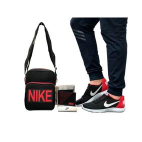 Zapatilla Tennis Nike Runner Hombre + Bolso + Billetera