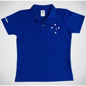 Polo Feminina Cruzeiro Baby Look Blusa Feminino Gola Polo