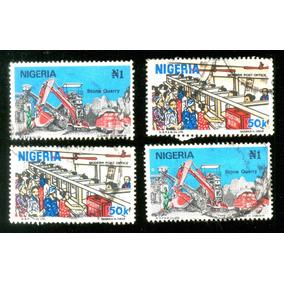 Nigéria Pedreira Correio 1986 Veja + Selos Clássicos E Raros
