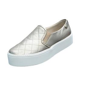 Tênis Slip On Matelassê Flatform Feminino Quality Shoes