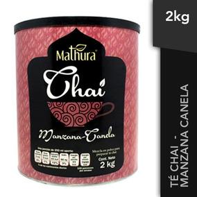 Lata De Te Chai Sabor Manzana Canela De 2kg Marca Mathura