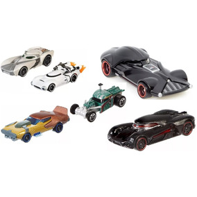 Kit 6 Carrinhos Carships Star Wars Hot Wheels Mattel