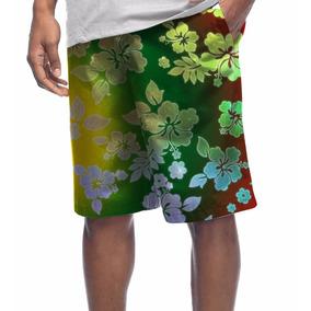 Bermuda Microfibra Reggae Floral Hibisco Cyclone Quicksilver