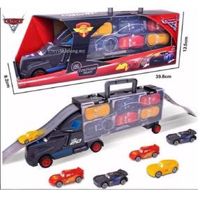 Disney Carros 3 Caminhão Jackson Storm + 6 Carrinhos Fricção