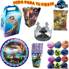 Platos Vasos Cajitas Dulceras Fiesta Jurassic World