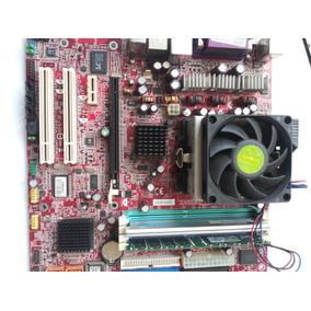 Combo Tarjeta Madre Ms 7191 Ver.1.1 Con Procesador Y Memoria