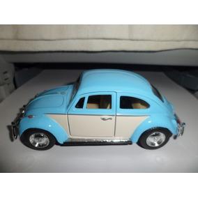 Fusca 1/32 Kinsmart Beetle 1967 Volkswagen Novo Azul