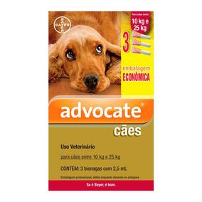 Antipulgas Bayer Advocate Para Cães De 10 A 25 Kg 08/2019