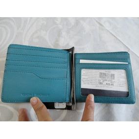 Cartera Nixon Showoff Bi Fold Gris Con Azul Nueva Original