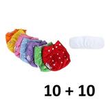 Pañal Ecologico De Tela Reutilizable 10 Pañales+ 10 Inserto