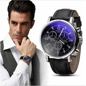 Relógio Luxo Masculino Yazole Top Social Pulseira Couro
