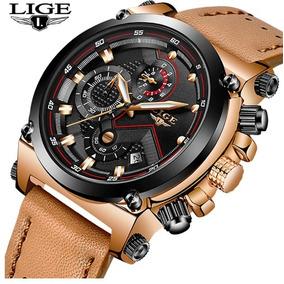 9800d42d11b Relogio Lince Pulseira Couro Masculino - Relógio Lince Masculino no ...