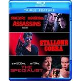 Blu Ray Assassinos/ Cobra / O Especialista - Triplo, Dub/leg