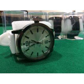 Relógio Correia De Borracha Com Caixa Em Estoque