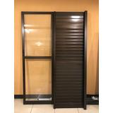 Porta De Vidro Para Sacada Em Alumínio - 2,10m X 1,34m)