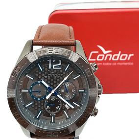 Relógio Cronógrafo Condor Couro Masculino Covd33as/k2p