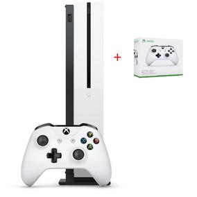 Console Xbox One S 1tb Branco Com 2 Controle E Nf