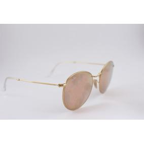Óculos Ray Ban Lent De Flash Redondo Modelo Rb3447l 112 z2 5 eb9ca4796c