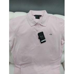Playera Armani Exchange Para Dama Tipo Polo Color Rosa
