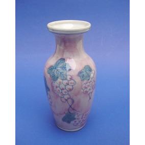 Antiguo Florero Oriental De Porcelana