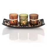Natural Candlescape Juego De 3soportes De Vela