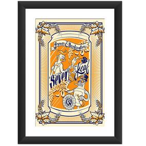 Quadro Futurama Cerveja Bebidas Desenho Decoracao Sala 45x60