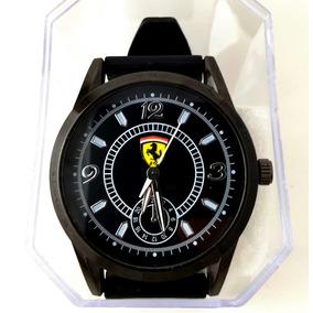 Promoção Relógio Masculino Ferrari Preto Analógico Silicone