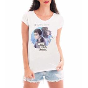 Camiseta Blusa T-shirt Roupas Feminina 13 Readsons Why Série