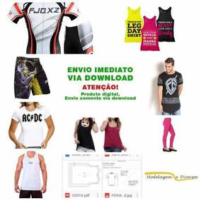Moldes De Camisetas, Shorts, Calças (pct. 20 Moldes)