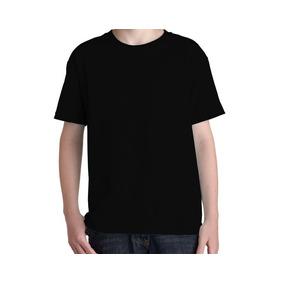 6202c7e8b7 Camiseta Preta Lisa Infantil - Camisetas Manga Curta no Mercado ...