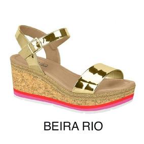 Sandália Feminina Anabela Beira Rio Conforto 8385.102