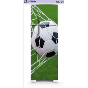 05d0f9f2f7 Adesivo Envelopar Geladeira Freezer Futebol Bola Gol Times
