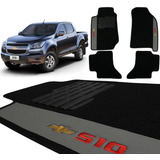 Jogo Tapetes Carpete Chevrolet S10 Cd 2012 A 2019