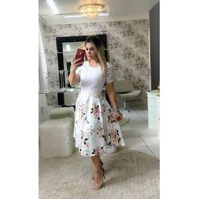 Vestido Moda Evangelica Em Renda E Suplex Digital 10 Peças