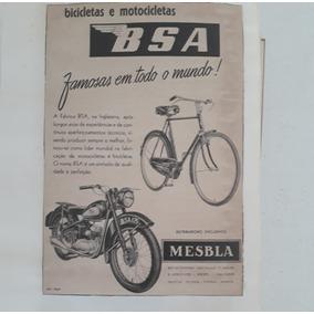 Propaganda Antiga Bsa Bicicleta & Moto Bsa 125 Raro Coleção