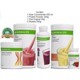 Kit Seca Barriga Emagrecedor Fiber Mix Herbalife + 2 Shakes