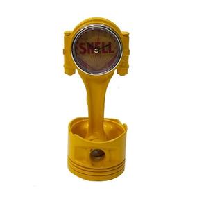 Relógio Pistão Original De Carro Com Arte Shell - Amarelo