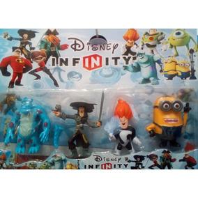 Set 4 Muñecos Disney Infinity Piratas Caribe Monster Inc Etc