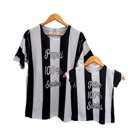34529d7a59 Kit 2 Camisetas Dia Dos Pais Pai Filho Santos Futebol
