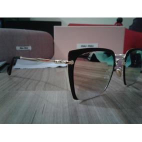 e5a37fbdd9c259 Óculos De Sol Miu Miu D5401 Gatinho Tamanho 60 Rosê