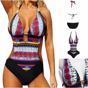 Traje De Baño Mujeres Dama Completo Sexy Bikini Monokini
