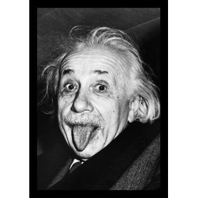 Quadro Decorativo Foto Albert Einstein 42x29cm