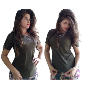 Kit 2 Blusas Tshirst Promoção Roupas Femininas Moda Elegante
