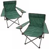 Set 2 Sillas Plegables P/ Camping Con Posa Vasos - El Rey