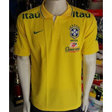 Camisa Polo Da Seleçao Brasileira Com Patrocinadores no Mercado ... b5a259de97aec